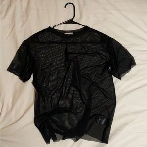 Black Mesh silence + noise Top: size S